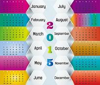 图形图标背景2015年日历