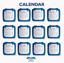 小标签元素2015年日历设计