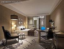 宾馆房间装修图片