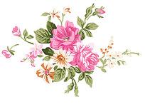 甜美花朵psd素材
