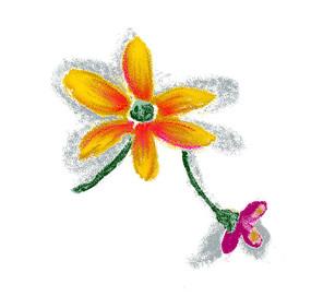 幼儿园墙壁手绘花朵psd素材