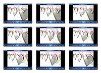 心形装饰婚礼片头视频素材