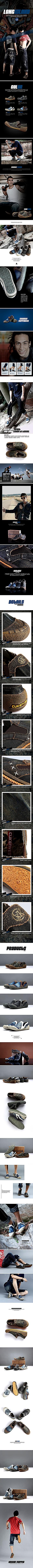 长岛时尚潮流帆布鞋细节详情页PSD素材