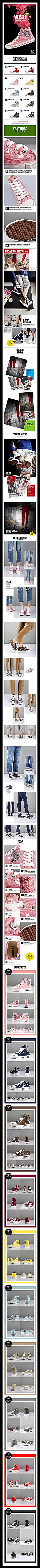 新款十色星点帆布鞋细节详情页PSD素材