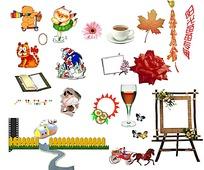 卡通儿童相册装饰素材