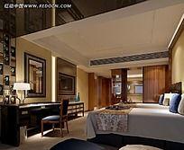 宾馆房间书桌效果图片