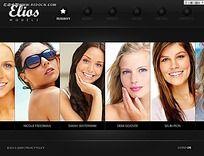 美女图片英文网站模板