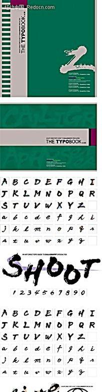 蓝色背景疯狂系列26大小写英文字母AI素材
