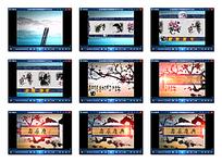 卷轴式寿辰庆典片头视频素材