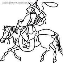 狩猎的古代小人时尚矢量人物漫画