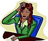 挠头发的女生时尚漫画