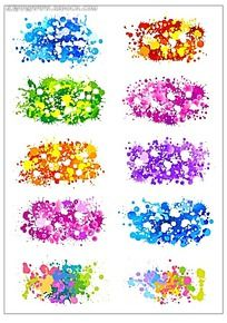 彩色碎花彩点韩国系列水墨底纹