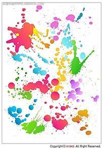水彩笔喷墨韩国系列水墨底纹