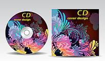 彩色花朵背景DVD设计