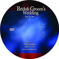 蓝色背景DVD设计