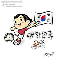 踢足球的小男生矢量人物插画