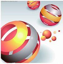 立体红色圆球商业背景素材