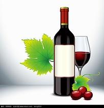 精美红酒高脚杯矢量素材