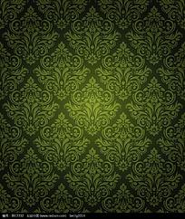 传统纹样绿色背景底纹