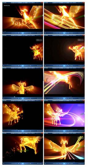2015金羊飞奔迎新年高清视频素材