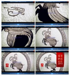2015羊年片头新年高清视频素材