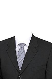 白衬衫西装证件照素材