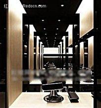 发廊室内效果图max