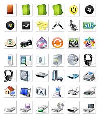 电脑素材web图标
