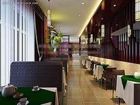 餐厅室内效果图max