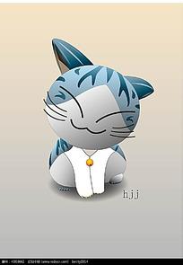 甜甜私房猫卡通矢量动物插画