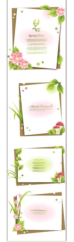 粉红色花朵花朵纸张背景素材