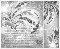 银色古典花纹创意背景