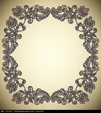 古典线条方形花纹边框