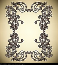 古典线条矩形花纹边框