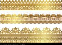 金色蕾丝边边框
