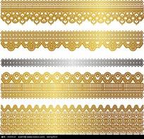 金色蕾丝质感边框