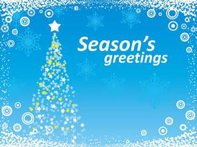 五角星圣诞树背景圣诞卡片