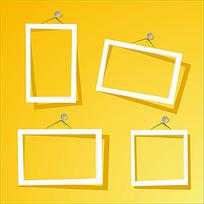 简洁方形白色相框
