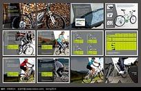 清新大气自行车画册
