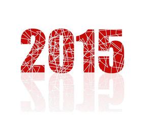 2015红底白色杂乱线条花纹数字矢量素材ai