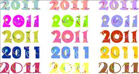 多款彩色2011数字设计素材ai
