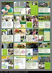 绿色背景风格毕业画册