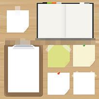 空白便签纸纸板记事本图形