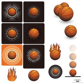 篮球矢量图形设计