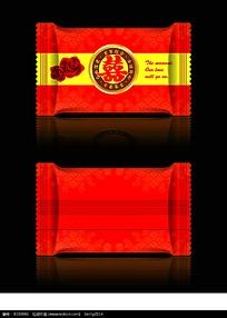 红色喜糖包装设计
