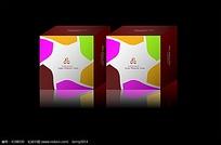 清新唯美方形包装盒效果图