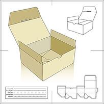 一款带展开图和3D图的盖合盒型