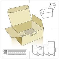 包装盒效果及刀模图
