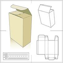 包装盒展开图