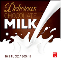 咖啡色牛奶包装